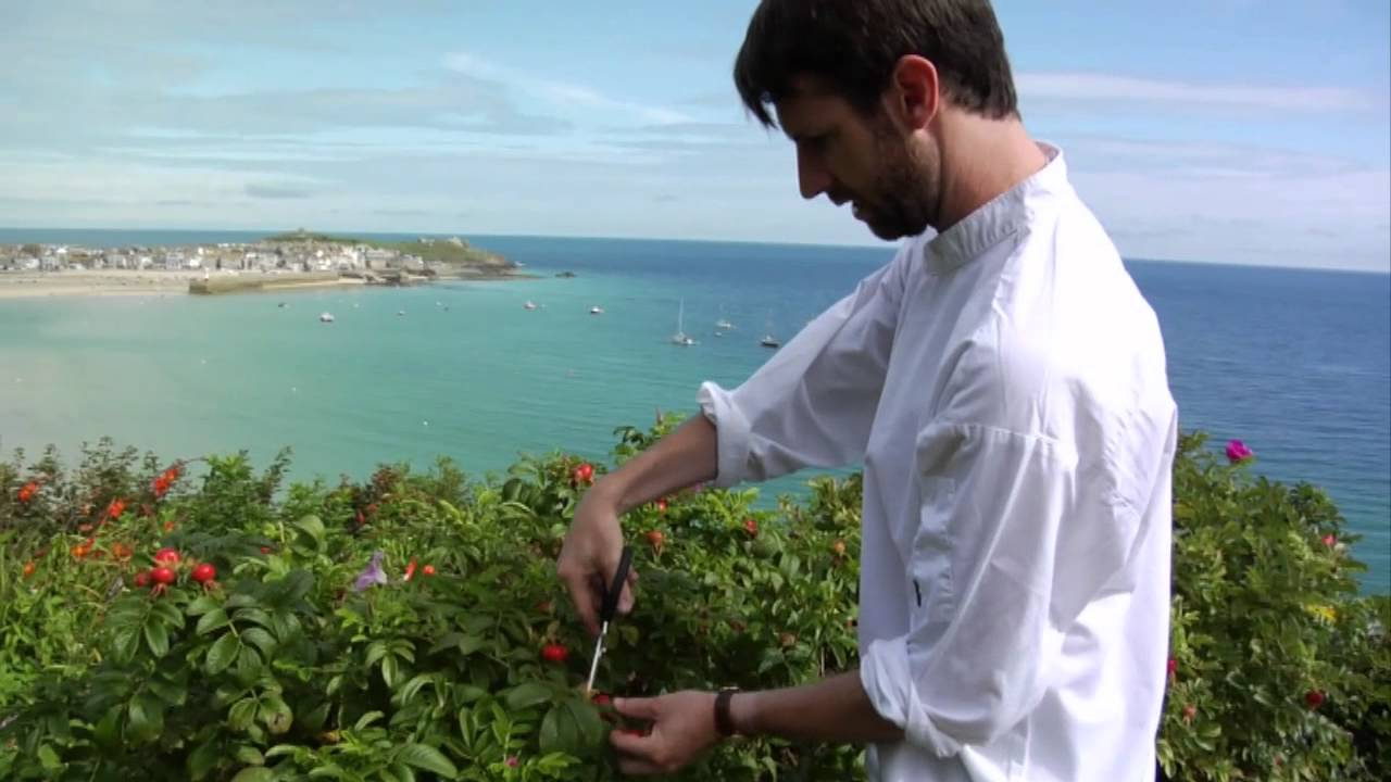 Mick Smith foraging around Porthminster Café