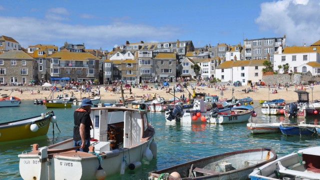 St Ives fishermen's beginning of the season