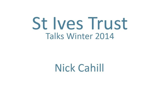 "Nick Cahill – ""St.Ives …a sort of minor English Constantinople…"""