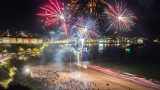 Fireworks on Porthminster Beach 2016