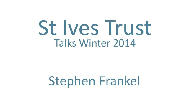 Stephen Frankel. Back to an innovative future for Cornwall's market towns?